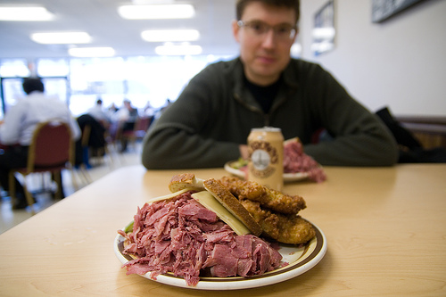 Manny's corned beef.