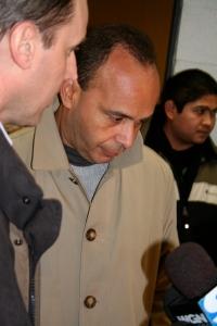 Congressman Luis Gutierrez meets with workers.