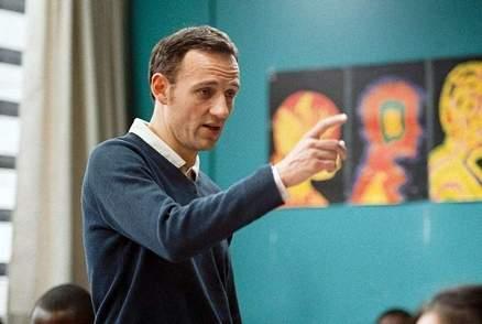 Francois Begaudeau speaks to his class.
