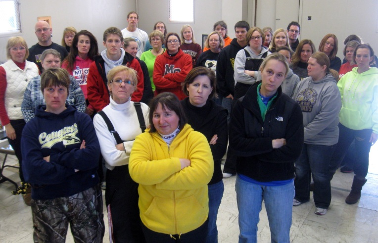 The striking teachers of Mount Olive, Illinois. The descendants of ...