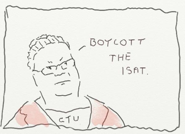 boycott the ISAT