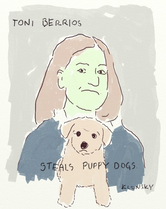 Toni Berrios steals puppy dogs.