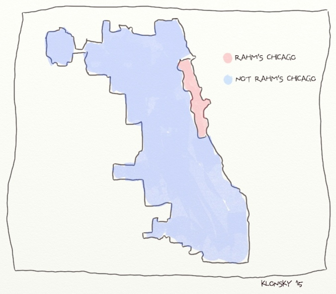 Political map of Chicago