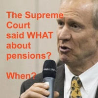 The Illinois Supreme Court said WHAT about pensions? When?