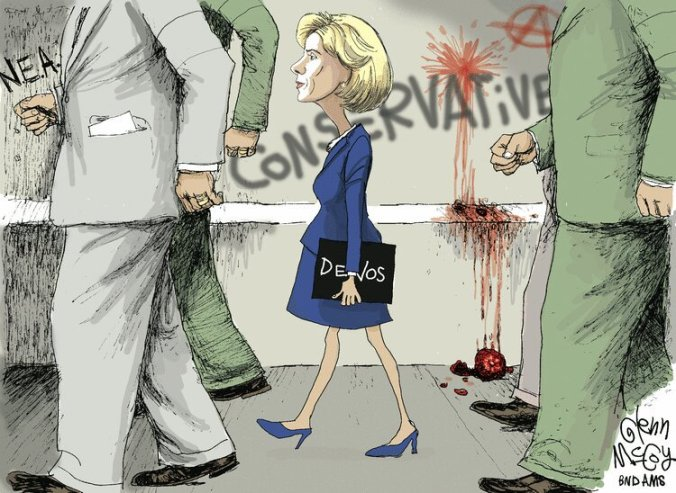 Image result for devos racist cartoon