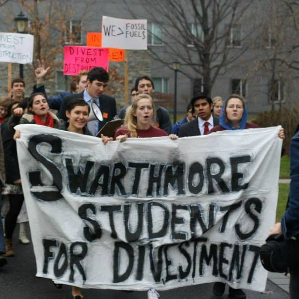 This morning students at Swarthmore College are sitting-in ...