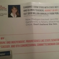 In the 17th Illinois state representative district, Chow ignores IEA cease and desist order. She is not IEA endorsed.