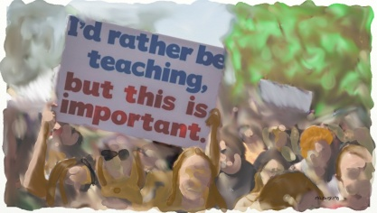 I'd rather be teaching.