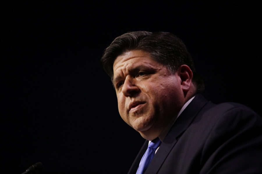 Democratic Gubernatorial Candidate For Governor J.B. Pritzker Holds Primary Night Event In Chicago