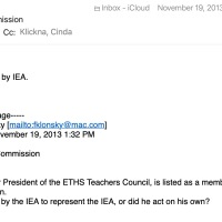 IEA's seat on the Charter Commission. Evanston teacher Bill Farmer responds, and so do I.