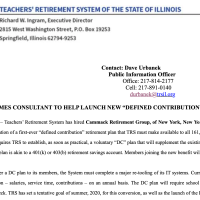 State Representative Martwick and the move to privatize teacher pensions.