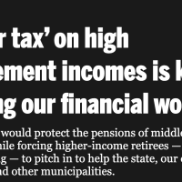 The Sun-Times scapegoating the elderly again. On taxing retirement income.
