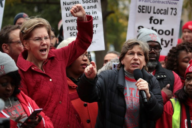 Warren-Joins-Striking-Teachers-640x427